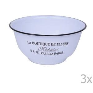 Zestaw 3 białych miseczek emaliowanych Ego Dekor Boutique