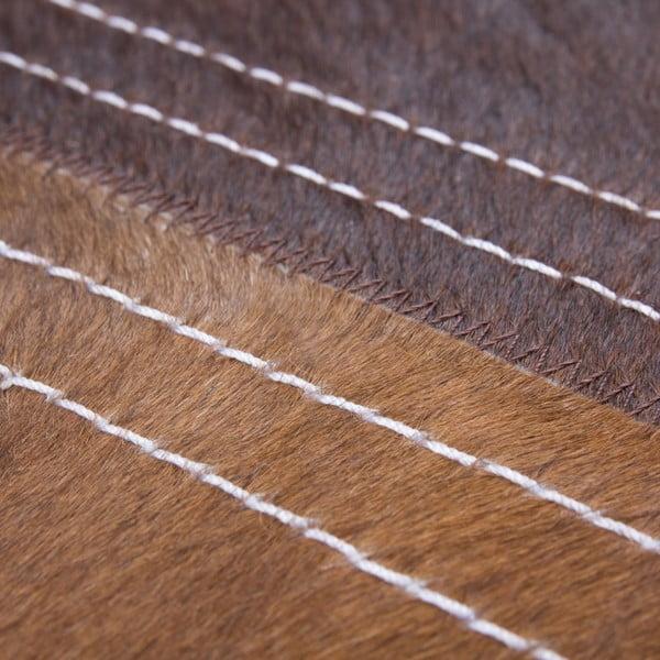 Dywan skórzany Brown Revolution, 116x174 cm