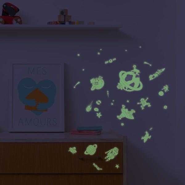 Zestaw naklejek świecących w ciemności OMY Cosmos, 100 szt.