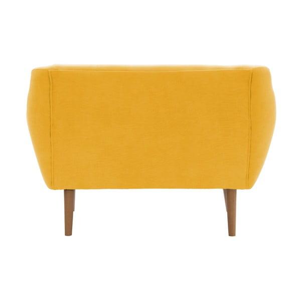 Sofa dwuosobowa Vivonita Kelly Lincoln, żółta