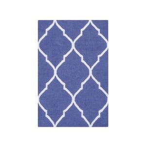 Ręcznie tkany dywan Caroline Dark Blue, 60x90 cm