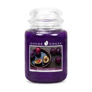 Świeczka zapachowa w szklanym pojemniku Goose Creek Bursztynowa śliwowica, 0,68 kg