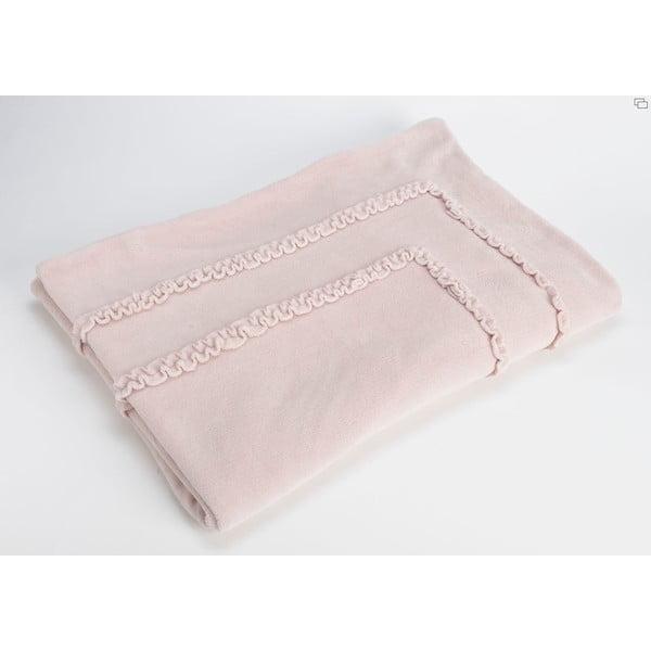 Koc Old Pink Froufrou, 170x130 cm