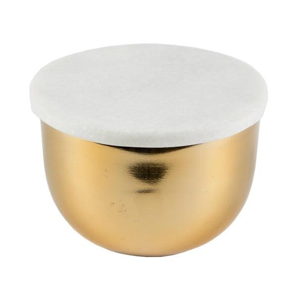 Złota miska z wieczkiem Sass & Belle Marble