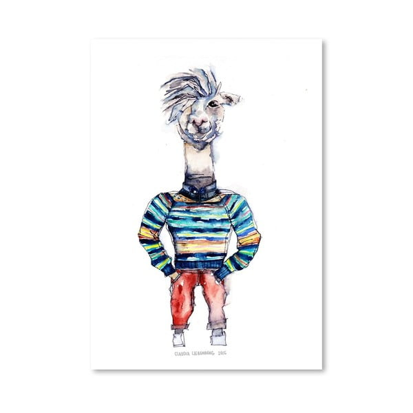Plakat Nigel the Llama, 30x42 cm