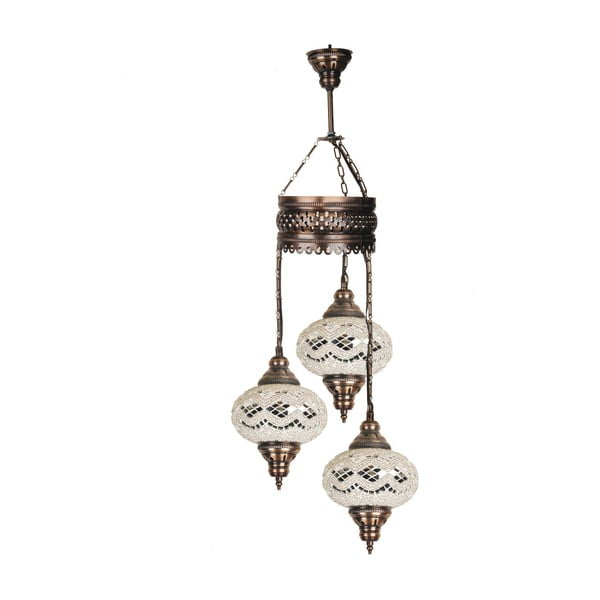 Lampa wisząca szklana Three II, 13 cm