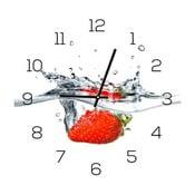 Zegar szklany DecoMalta Strawberry, 30x30cm