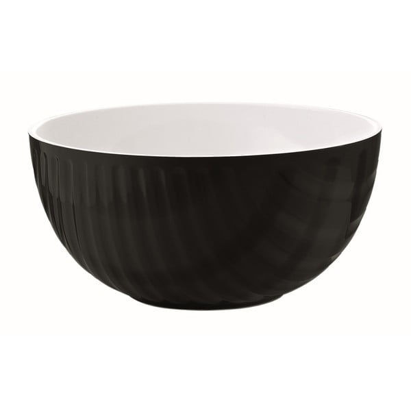Czarno-biała miska Fratelli Guzzini Mirage, 20 cm