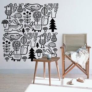 Naklejka ścienna Forest Animals, 47x90 cm