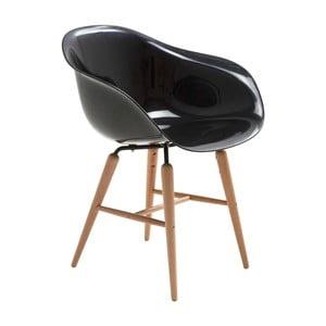 Czarne krzesło do jadalni Kare Design Armlehe Forum
