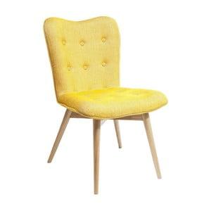 Żółte krzesło do jadalni Kare Design Angel Wings
