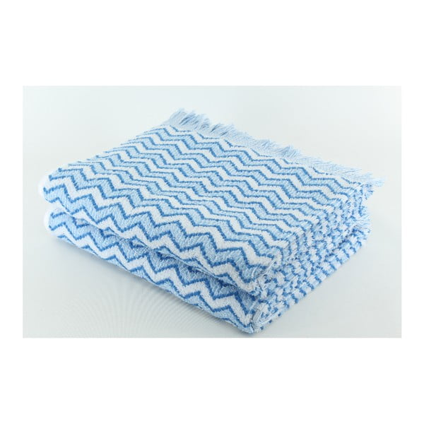 Zestaw 2 ręczników Lora Alaska Blue, 70x140 cm