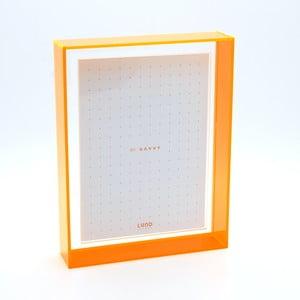 Ramka na zdjęcia z pomarańczowymi krawędziami Lund London Flash Blocco, 16,6x21,6cm