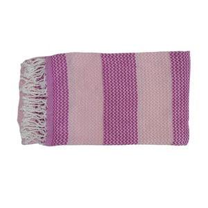 Fioletowy ręcznie tkany ręcznik z bawełny premium Alya,100x180 cm