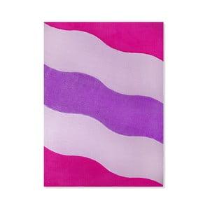 Dywan dziecięcy Mavis Pink Waves, 100x150 cm