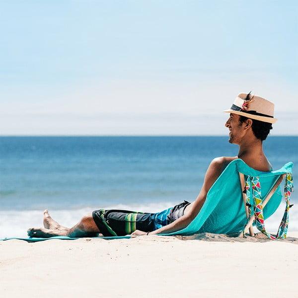 Leżak i ręcznik plażowy w jednym Sun Seat Water Geo
