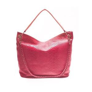 Skórzana torebka Mangotti 8034, różowa