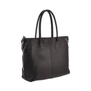 Skórzana torebka Emilio Masi Baiten, czarna
