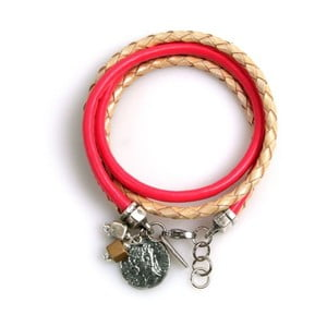 Bransoletka Ring, różowa