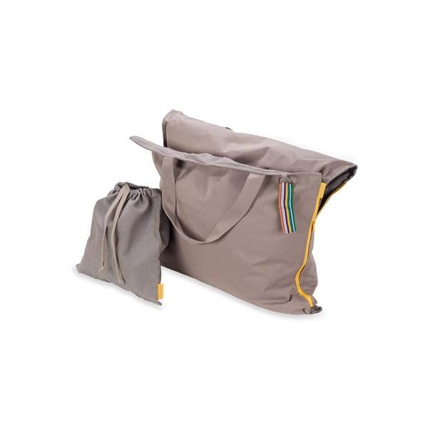 Przenośny leżak + torba Hhooboz 150x62 cm, beżowy