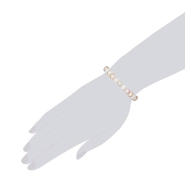Perłowa bransoletka The Pacific Pearl Company Furrow, dł. 19 cm