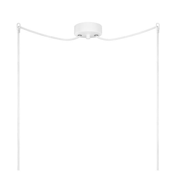 Biało-miedziana podwójna lampa wisząca Sotto Luce Dosei