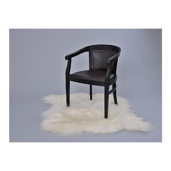Dywan futrzany z długim włosiem White, 100x90 cm