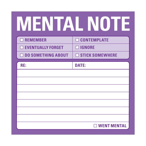 Karteczki samoprzylepne Mental Note