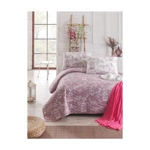 Pikowana narzuta z poszewkami na poduszki Samyeli, 200x220cm