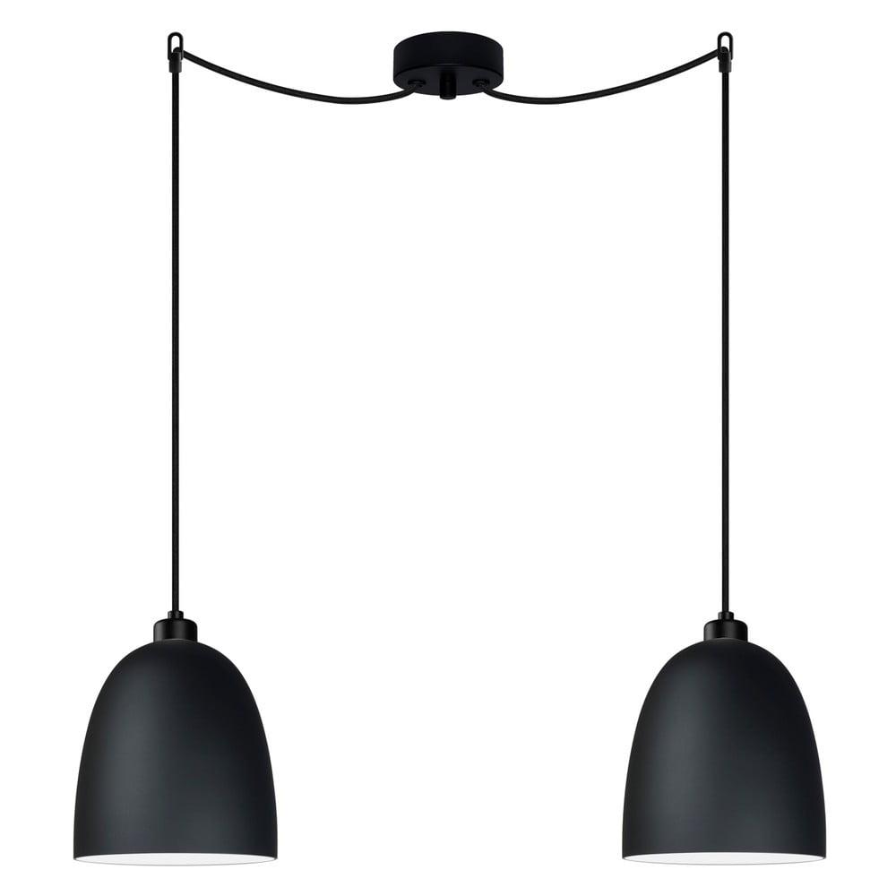 Czarna lampa podwójna wisząca Sotto Luce AWA Elementary 2S Matte