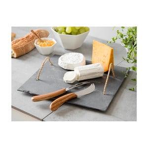 Deska i noże do serów Slate, 32x32 cm