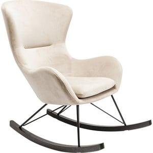 Biały fotel na biegunach Kare Design Oslo