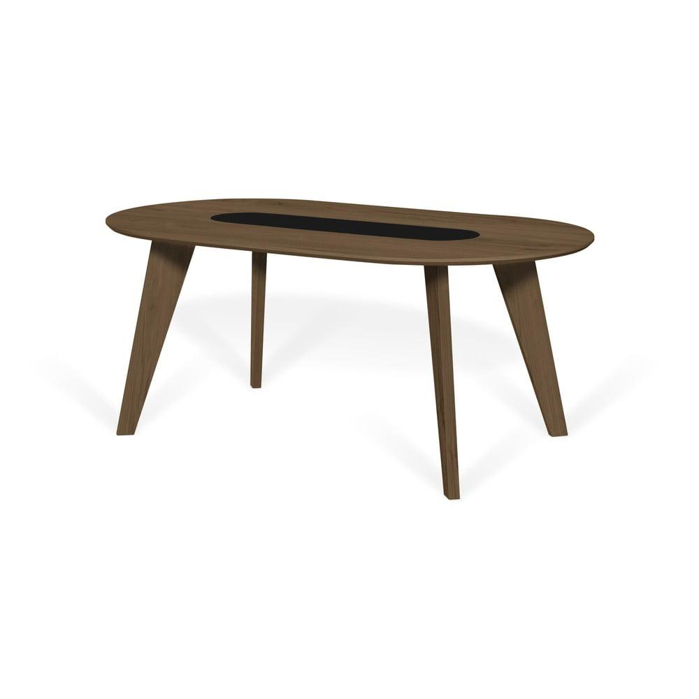 Stół z fornirem orzechowym i elementem marmurowym TemaHome