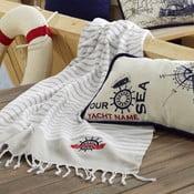 Ręcznik plażowy Marine Organic White Beige, 100x170 cm