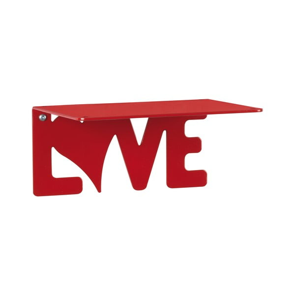 Półka Love, czerwona