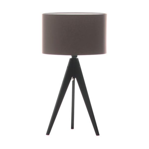 Brązowa lampa stołowa 4room Artist, czarna lakierowana brzoza, Ø 33 cm