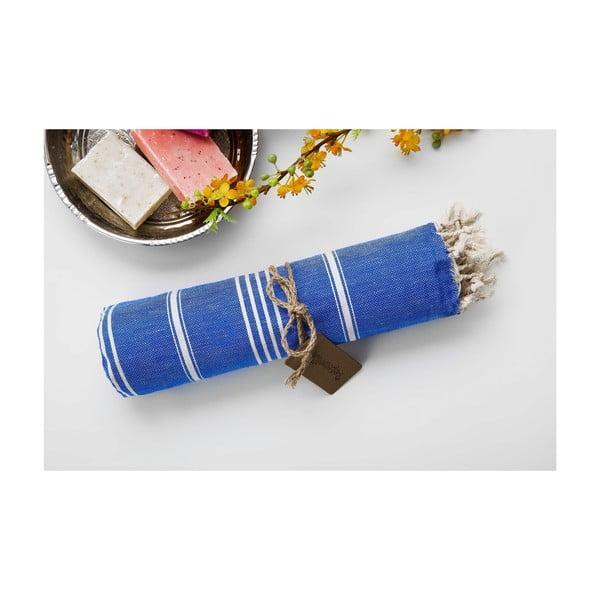 Ręcznik hamam Sabba Blue, 100x180 cm