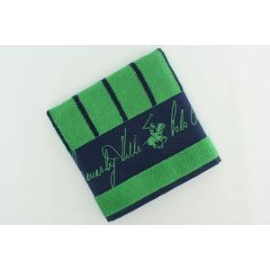 Ręcznik bawełniany BHPC 50x100 cm, zielony w paski
