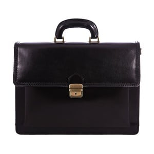 Czarna torba skórzana Ciryl