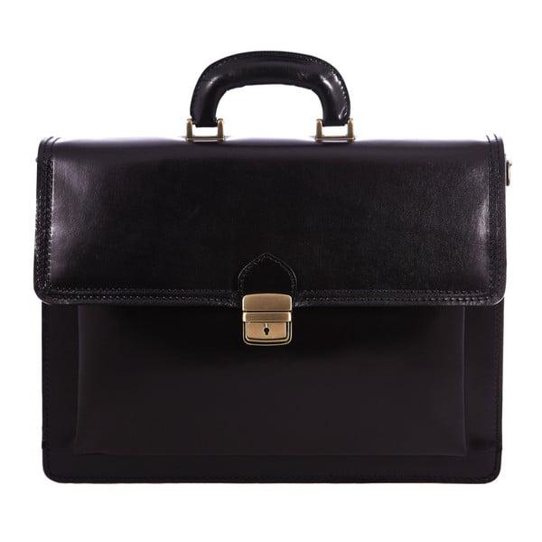 Czarna torba skórzana Chicca Borse Ciryl