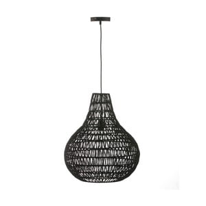 Czarna lampa wisząca Surdic Valetta, Ø 46 cm