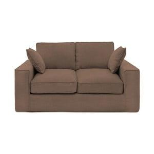 Brązowa sofa dwuosobowa Vivonita Jane