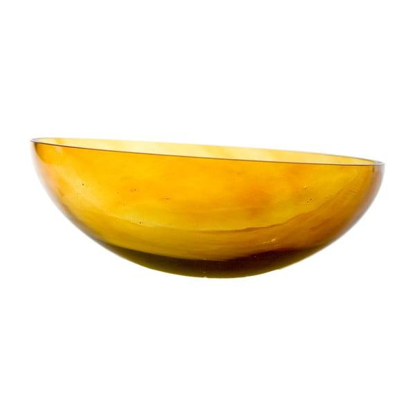 Szklana miska, miodowa