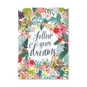 Plakat (projekt: Mia Charro) - Follow Your Dreams