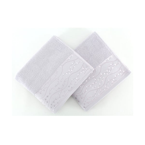 Komplet 2 ręczników Tomuruk Lilac, 50x90 cm