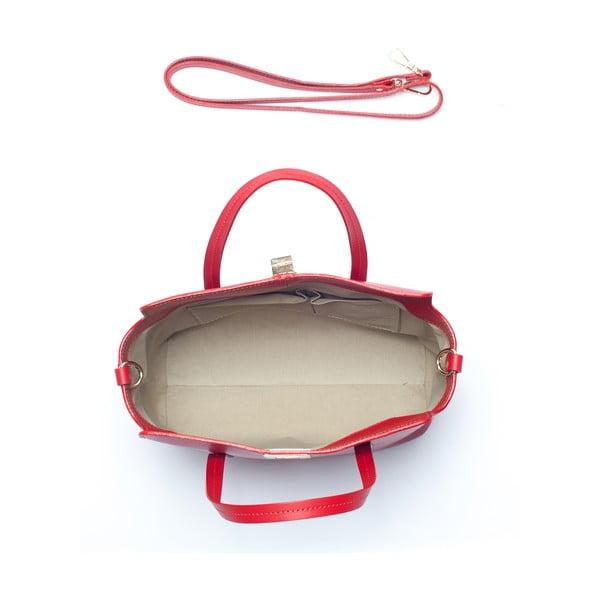 Skórzana torebka Mangotti 387, czerwona