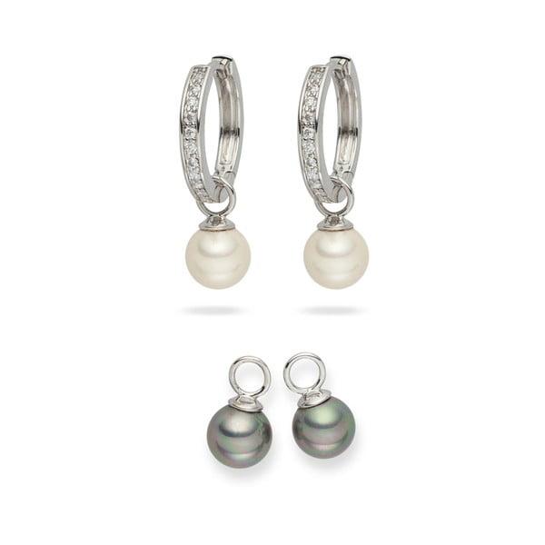Komplet kolczyków perłowych Nova Pearls Copenhagen Celine