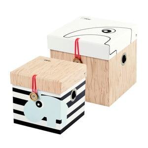 Zestaw 2 małych pudełek Done by Deer Square