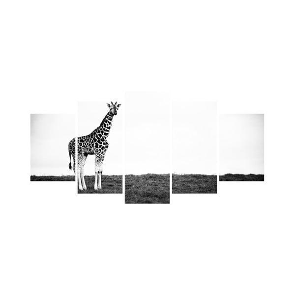 Wieloczęściowy obraz Black&White no. 6, 100x50 cm