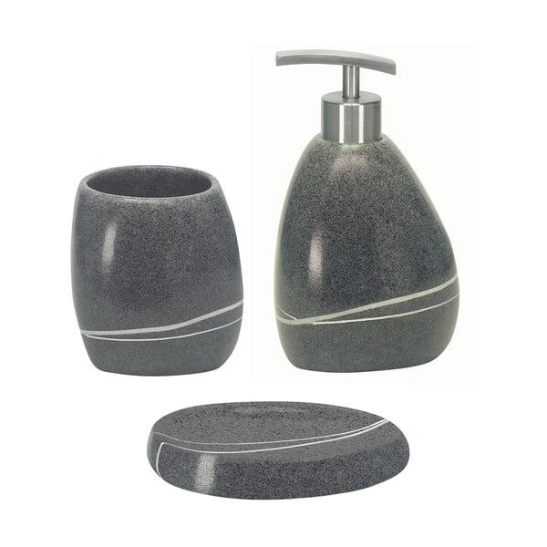 Zestaw akcesoriów łazienkowych Stones Grey